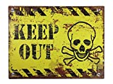 zeitzone Blechschild Keep Out Dekoschild Vintage 25x33cm