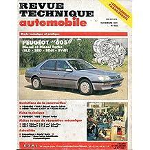 REVUE TECHNIQUE AUTOMOBILE N° 533 PEUGEOT 605 2.1 DIESEL ET TURBO DIESEL / SLD / SRD / SRDT / SVDT