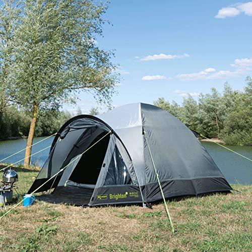 2 Personen Zelt Zweimannzelt Campingzelt Iglu Tunnelzelt Kuppelzelt Camping Outdoor Festival Garten Trekking Zelt Wandern Grau 3000MM Campingurlaub Familienzelt 2 Mannzelt mit Bodenplane und Tasche