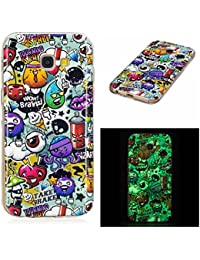 Pour Samsung Galaxy A5 2017 Coque,Coffeetreehouse [Noctilucent] Coque Etui Silicone Slim Transparente Gel TPU Bumper Anti Poussiere Resistance Anti-rayures Case Cover Couverture Pour Samsung Galaxy A5 2017 - graffiti