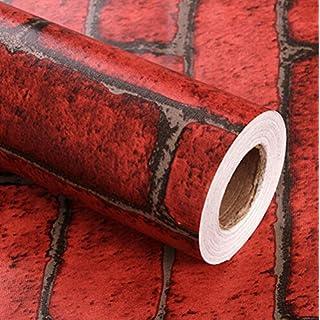 FLORATA 45X 100CM Wall Murals Brick Background Wallpaper Rolls Wall Decor paper Wallpaper Sticker for Home Living Room Bedroom Decoration
