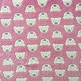 Fleecestoff, rosa, superweich und kuschelig,