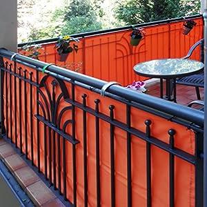 jarolift Balkonbespannung, Balkon Sichtschutz Windschutz Sonnenschutz Balkon-Verkleidung, Wasserabweisend 300 x 75 cm…