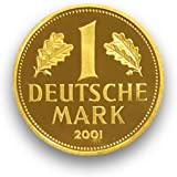 "DEUTSCHLAND / GERMANY / ALLEMANGNE 1 DM GOLDDM GEDENKMÜNZE "" 1 Deutsche Goldmark 2001 "" - 999er Feingold 12g Gold - Goldmünze"