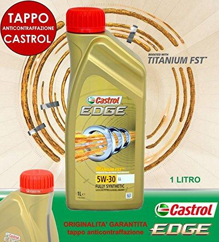 CASTROL EDGE 5W30 FST OLIO MOTORE LONGLIFE LUBRIFICANTE FLUIDO 100% SINTETICO 1L