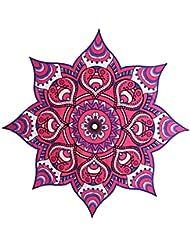 Colgante de Pared Colcha Tiro Mandala Tapicería Indio Bohemio Decoración Púrpura