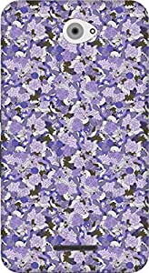 The Racoon Grip printed designer hard back mobile phone case cover for Sony Xperia E4. (Violet Cra)