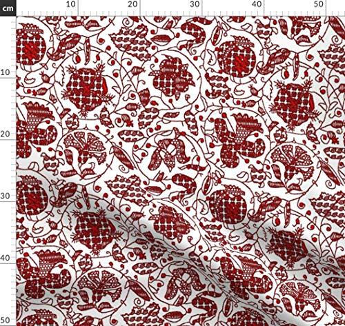 Tudor Erwachsene Für Kostüm - Elisabethanisch, Tudor, Stickerei, Schwarzstickerei, Kostüm Stoffe - Individuell Bedruckt von Spoonflower - Design von Bonnie Phantasm Gedruckt auf Fleece