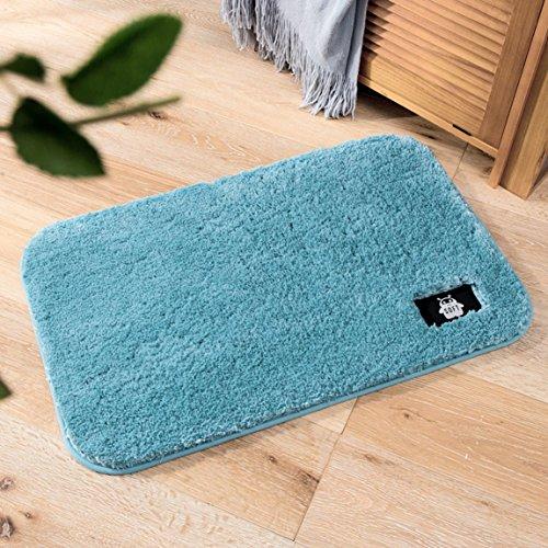 Hmy LRW Die Badezimmer Tür Matte Mat Haushalt Badematte Sanitärabsorbierende Teppich (Color : D, Size : 80 * 100cm)