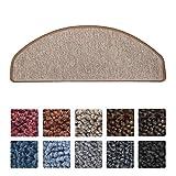 Beautissu® Tappeti scalini ProStair set 15 unità - passatoie gradini 65x28cm retro adesivo perfetta angolatura sabbia