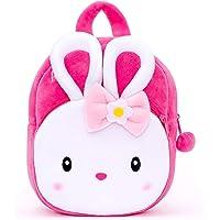 Blue Tree Cute Kids Backpack Toddler Bag Plush Animal Cartoon Mini Travel Bag for Baby Girl Boy 1-6 Years (KONGGI Rabbit…