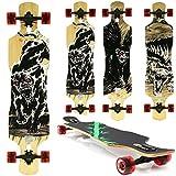 Miganeo Longboard 108x24,5 Long Board Skateboard Surfboard komplett Flex Longboards (101 Helldog)
