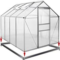 Deuba Greenhouse Base Size Choice (6ft x 8ft) Galvanised Steel Frame Ground Fixation