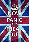 Now Panic And Freak Out Union Jack A2 Poster