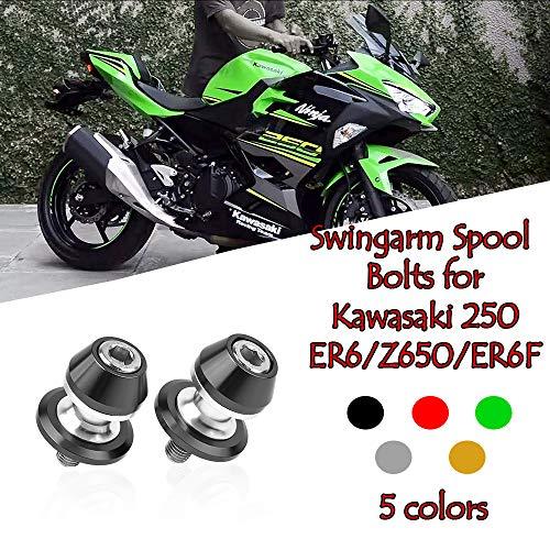 FATExpress Moto Aftermarket Aluminio Columpio Deslizador Carrete Soporte  Tornillo Tornillo M10 10mm para Kawasaki Ninja 250 400R Z1000 ZX-10R ZX-6R