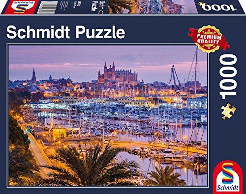 Preisvergleich Produktbild Schmidt Spiele Puzzle 58302 - Altstadt und Hafen, Palma de Mallorca Puzzle, 1000 Teile
