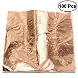 ULTNICE Foglio di fogliame d'oro per fogli d'oro per fogli d'arte per arti artigianali (colore di rame)