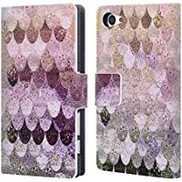 Official Monika Strigel Pastel Rose Happy Mermaid Leather Book Wallet Case Cover For Sony Xperia Z5 Compact
