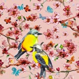 Pitaara Box Birds And Flowers - SMALL Size 12.0 inch x 12.0 inch - FRAMED CANVAS Wall Paintings with 6mm (0.24 inch) THICK MDF MOUNTING FRAME : DIGITAL PRINT Wall Posters Art Panel like Hand Paintings : Home Interior Wall Décor Photo Gifts & Decorative Paintings for Bedroom, Living Room, Drawing, Dining Room, Kitchen, Office, Reception, Bathroom, Outdoor, Gallery, Hotels, Restaurants, & Balcony : Birds, Floral, Kids : Fine Art Reprint
