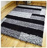 PRESTO-BAZAAR-Polyester-Carpet-71-x-107,-Black-and-Grey