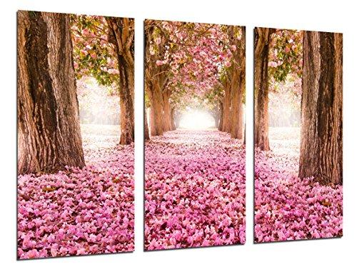 Cuadro Moderno Fotografico Camino Bosque, Flores, Arboles, 97 x 62 cm ref. 26254