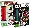 Hasbro 2jeux de voyage 29188100–Monopoly Compact 29193100–Cluedo Compact
