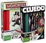 Hasbro 2 Reisespiele 29188100 - Monopoly Kompakt 29193100 - Cluedo Kompakt
