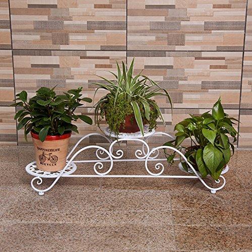 Helle Ahorn-finish (Blumentopf-Finish-Rack. Eisen-Blumenregale, Boden-Schmiedeeisen-Blumengestelle, grüne Blumentöpfe, Balkonpflanzenständer Pflanzen vergoldet Rack ( Farbe : Weiß ))