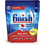 Finish Dishwasher Detergent Tablets, All in One Lemon, 14s