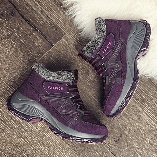 Minetom Primavera Scarpe Donna Uomo Caldo Calzature da Escursionismo Ginnastica Sneakers Calzino Palestra Corsa da Arrampicata B Viola