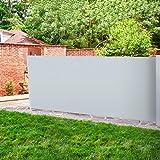 Purovi Seitenmarkise ausziehbar | Seitenrollo 180 x 300 cm | Sichtschutz & Windschutz für Balkon, Garten, Terrasse | Grau