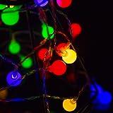 Led Globe String Lights, 80LEDs 29.5ft/9M Ball Fairy Lights 2 Modes, Battery Operated, Decorative Light, for Bedroom, Wedding