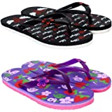 SIDEWOK Colourful Casual Printed Women's Flip-Flops/Slippers Combo of 2 Slippers