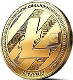 innoGadgets Physische Litecoin Medaille mit 24-Karat Echt-Gold überzogen. Wahres Sammlerstück mit Münzkapsel - Kollektion 2018. EIN Muss für jeden Krypto-Fan