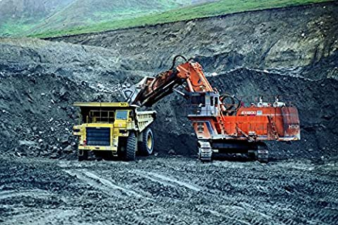 780045 Triple 6 Dump Truck Loaded In The Pit By A Loader A4 Photo Poster Print 10x8
