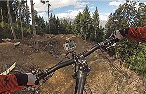 Fahrrad Halter Halterung Zubehör für dazzne Rollei bullet sj4000 mit 3-Way Pivot Arm für Surfen/Skifahren/ Radfahren/Fallschirmspringen