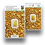Goldbarren 1g Gramm | Fairtrade Gold 999.9 Feingold