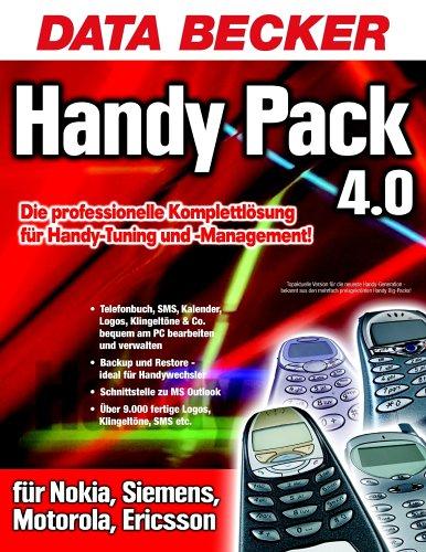 Preisvergleich Produktbild Handy Pack 4.0,  1 CD-ROM Läuft unter Windows 98 / 98SE / ME / NT4 (SP6) / 2000 / XP. Für Nokia,  Siemens,  Motorola,  Ericsson