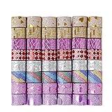 QH-Shop Washi Tape Glitzer Masking Tape Mehrfarbig Dekorative Klebeband Set für Sammelalbum DIY Handwerk Geschenkverpackung Party Supplies 90 Rollen