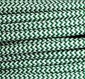 Textilkabel Stoffkabel grün - weiß , 2-adrig rund , 2x0,75 von Globe Warehouse auf Lampenhans.de