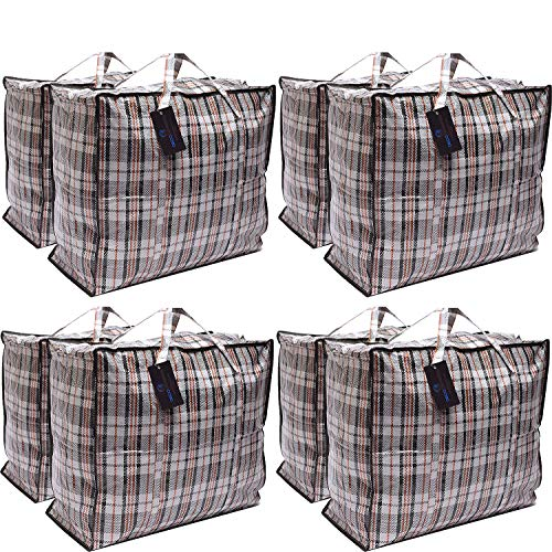 Paquete 8 bolsas compras XX-Large STRONG Storage Laundry