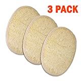 FENTI 3 Pack of Bath Exfoliator Mitt Loofah Pad, Exfoliating Scrubber, Shower Tool for Women & Men, White