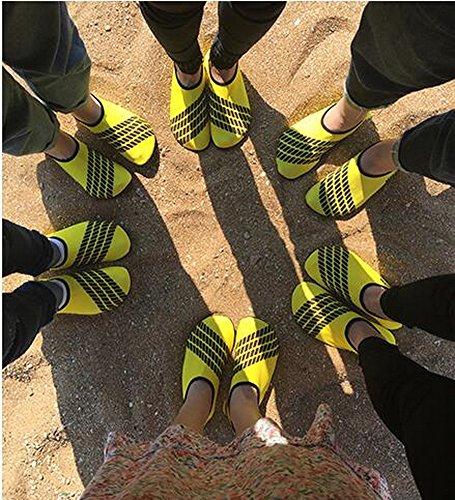 Kinder Tauchen Schuhe rutschfeste Tretmühle Schuhe Sandalen Schwimmen Schuhe Gelb
