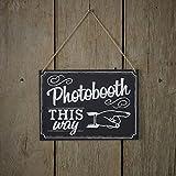 Ginger Ray pizarra de madera Photobooth señal–Marco, diseño de fotos de fotomatón para bodas o fiestas–Vintage Affair