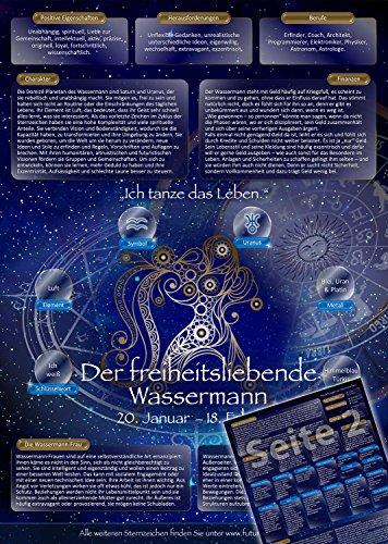 Sternzeichen Wassermann - Die Horoskop- und Charakter-Karte für Liebe, Partnerschaft, Beruf, Finanzen und Gesundheit: Die psychologische Astrologie...