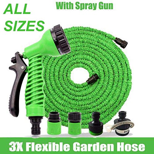 expanding-expandable-elastic-compact-garden-hose-pipe-with-spray-gun-25ft-to-150ft-3x-more-flexible-