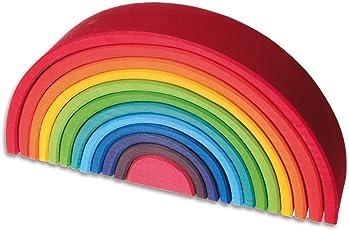 Grimm's Spiel und Holz Design Regenbogen 12 teilig gross