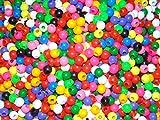 #6: Anshartandcraft Plastic Beads Round : 100g Pack (Plastic Beads Multi 10mm)