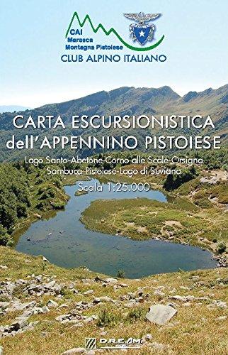Carta escursionistica dell'Appennino Pistoiese. Lago Santo-Abetone-Corno alle Scale-Orsigna Sambuca Pistoiese-Lago di Suviana. Scala 1:25.000. Con App