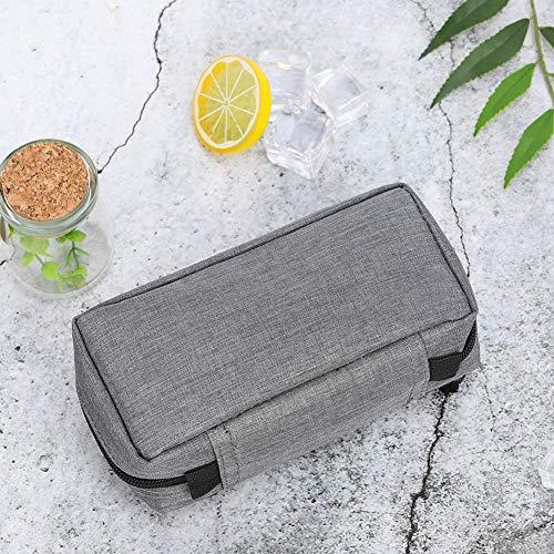 61XG%2BYjTAKL - Bolsa de refrigeración portátil - insulina nevera viaje caso para la pluma de insulina y suministros para diabéticos inserto de refrigeración para caja plegable(Gray)